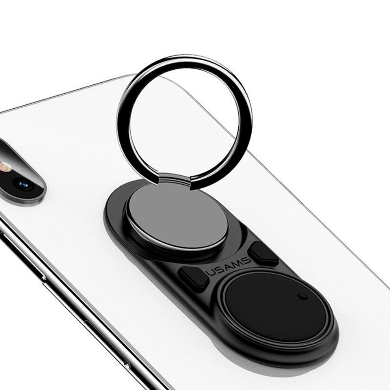 Suport Pentru Telefon/Tableta Auto USAMS Decompression iRing Holder - US-ZJ044 - White