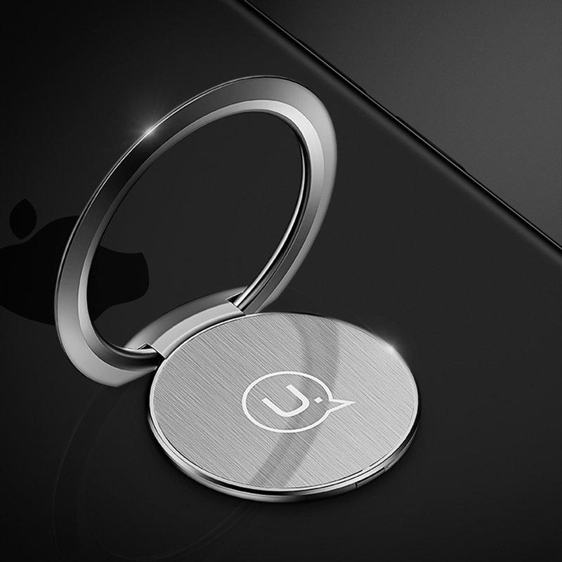Suport Pentru Telefon/Tableta Auto USAMS Ultra-Thin iRing Holder - US-ZJ038 - Silver