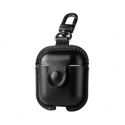 Husa Pentru Apple Airpods Din Piele Naturala USAMS - US-BH475 - Black
