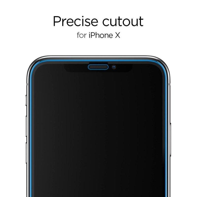 [Pachet 2x] Folie Protectie iPhone 11 Pro Sticla Spigen GlassTR - Clear
