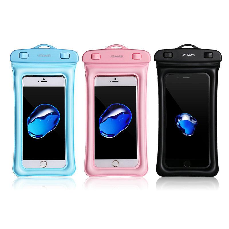 Husa Subacvatica Pentru Telefon USAMS Waterproof Bag - US-YD007 - Pink