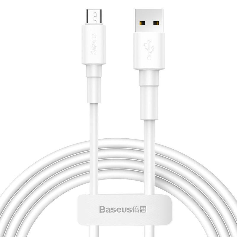 Cablu de date USB to Micro-USB Baseus Mini Cable 2.4A 1M - CAMSW-02 - White