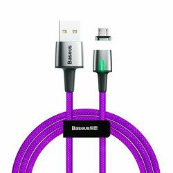 Cablu De Date Baseus Zinc Magnetic USB For Micro-USB 1.5A 2M - CAMXC-B05 - Royal Blue