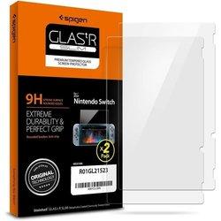 [Pachet 2x] Folie Protectie Nintendo Switch Sticla Spigen GlassTR  - Clear