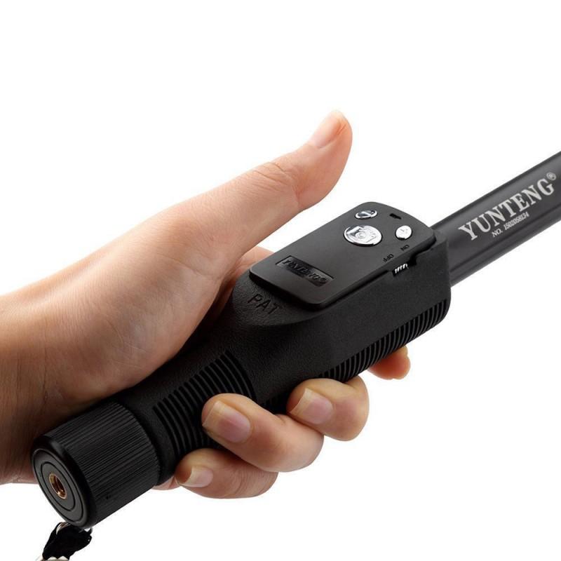 Suport Selfie Stick Universal YT-1288 Wireless Cu Telecomanda Bluetooth Si Lungime Maxima De 125cm - Negru