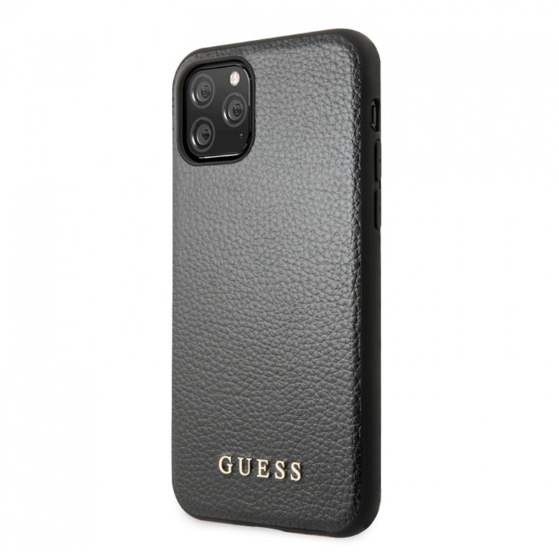 Bumper iPhone 11 Pro Max Guess Sintetic Leather Iridescent - GUHCN65IGLBK - Black