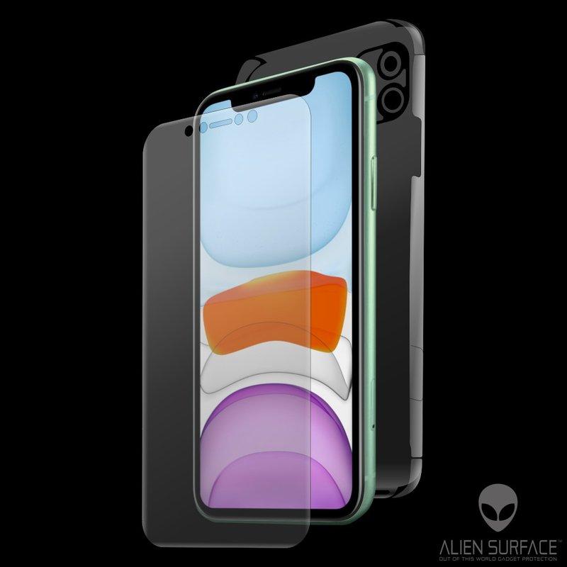 Folie 360° iPhone 11 Alien Surface XHD, Ecran, Spate, Laterale - Clear