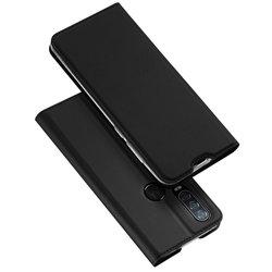 Husa Motorola One Action Dux Ducis Flip Stand Book - Negru
