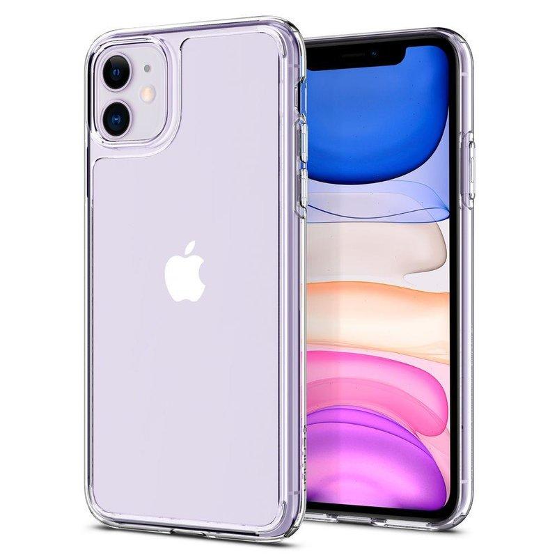 Husa iPhone 11 Spigen Quartz Hybrid - Clear