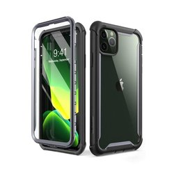 [Pachet 360°]Husa iPhone 11 Pro Max Supcase i-Blason Ares + Bumper - Negru