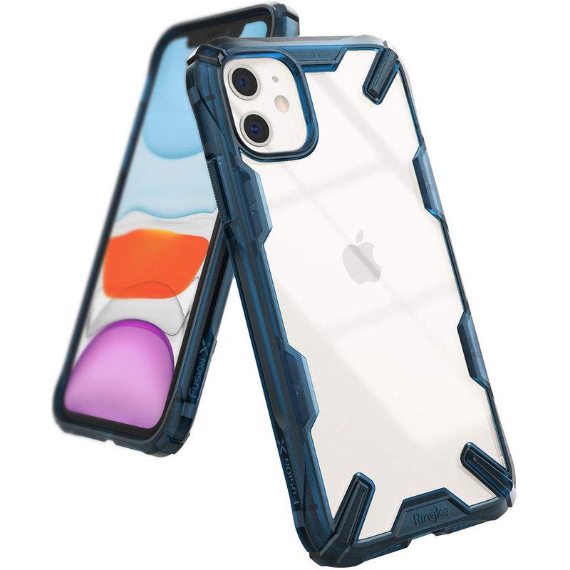 Husa iPhone 11 Ringke Fusion X - Space Blue