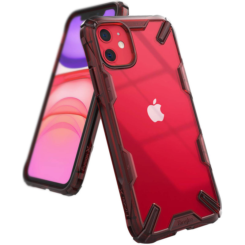 Husa iPhone 11 Ringke Fusion X - Ruby Red