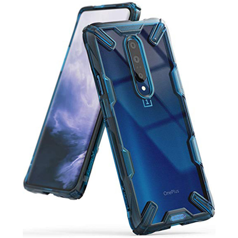 Husa OnePlus 7 Pro Ringke Fusion X - Space Blue