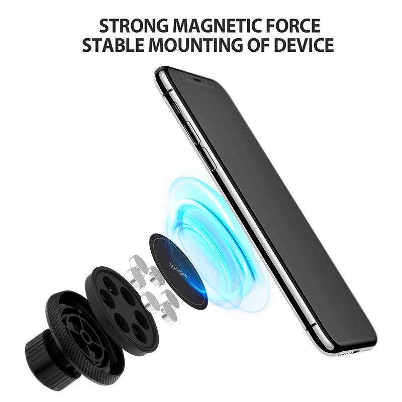 Suport Auto Ringke CD Slot Magnetic Head Pentru Telefon Cu 2 Placute Metalice - Negru