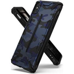 Husa iPhone XS Max Ringke Dual-X Design - Camo Blue