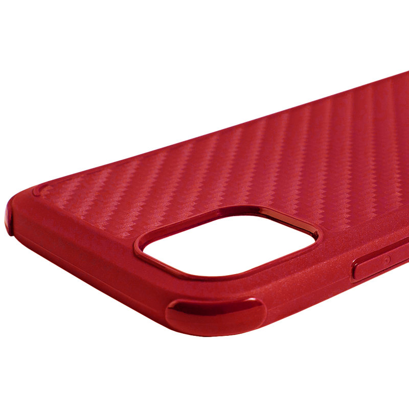 Husa iPhone 11 Roar Carbon Armor - Rosu