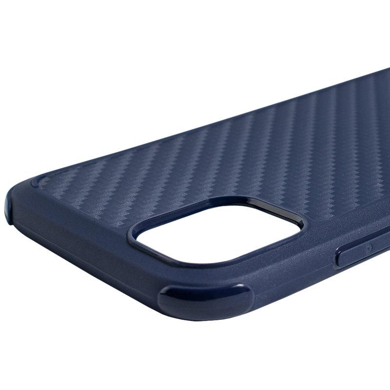Husa iPhone 11 Roar Carbon Armor - Albastru