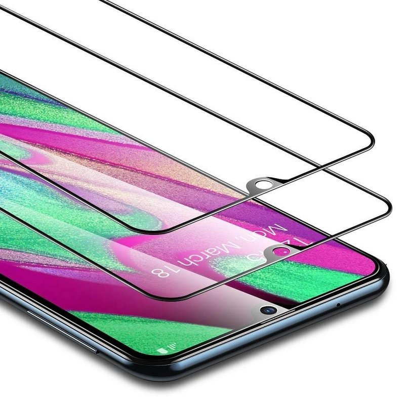 [2xPack] Folie Samsung Galaxy A40 ESR Full Coverage Glass Film 5KG 9H - Black