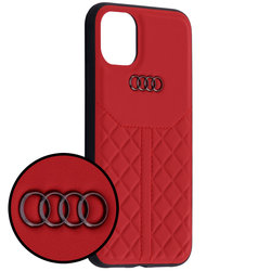 Husa iPhone 11 Audi Leather Case - TPUPCIP11R-Q8/D1-RD - Rosu