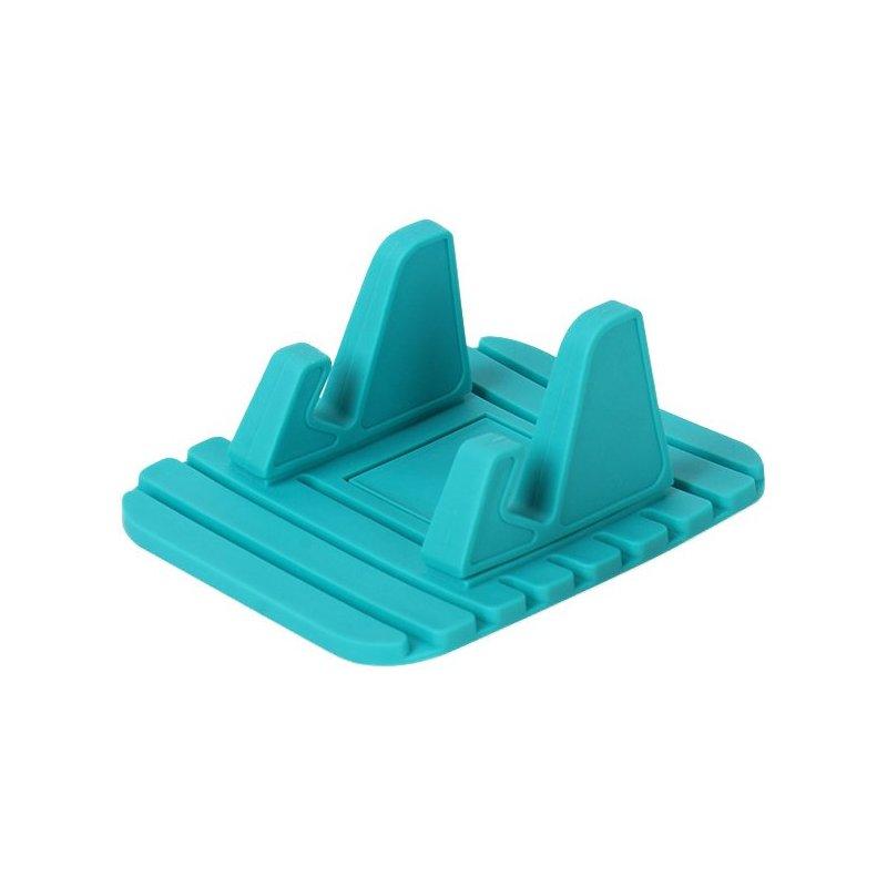 Suport Auto Anti Skid Pad Bracket Din Silicon Pentru Telefon - Albastru