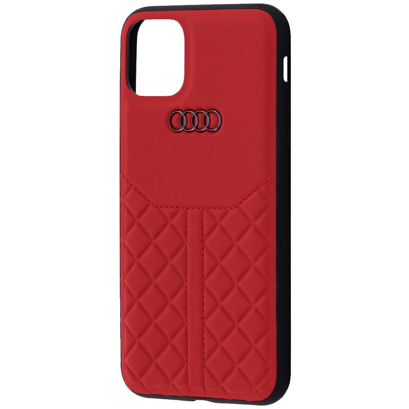 Husa iPhone 11 Pro Max Audi Leather Case - TPUPCIP11M-Q8/D1-RD - Rosu