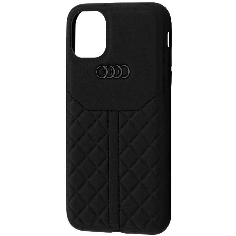 Husa iPhone 11 Audi Leather Case - TPUPCIP11R-Q8/D1-BK - Negru