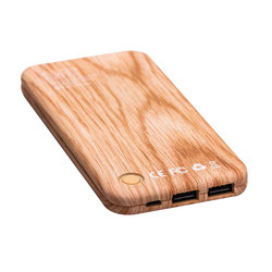 Baterie Externa Puridea S2 10000mAh 2xUSB - Light Wood Grain