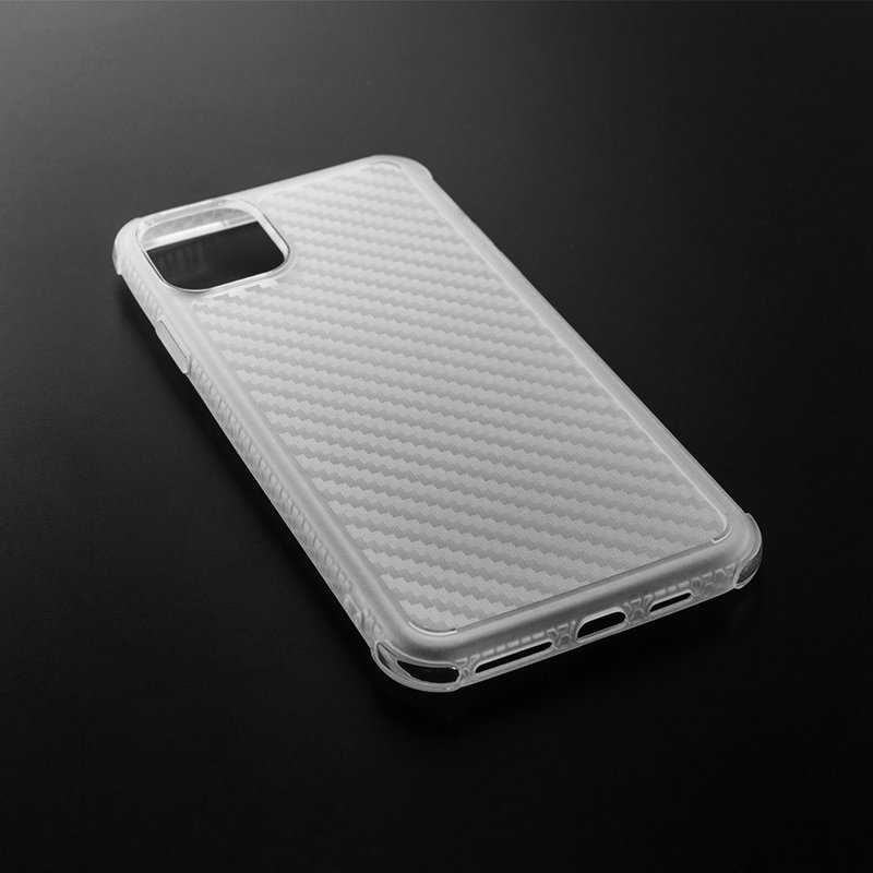 Husa iPhone 11 Pro Max Roar Carbon Armor - Transparent