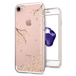 Bumper iPhone 8 Spigen Liquid Crystal - Spring Blossom