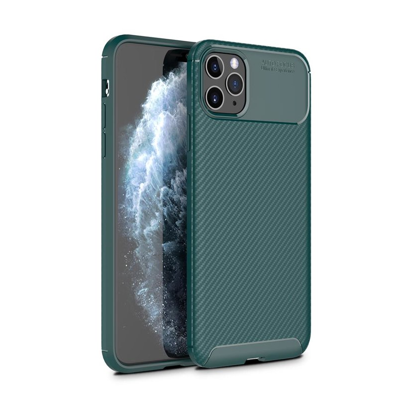 Husa iPhone 11 Pro Max Mobster Carbon Skin Verde