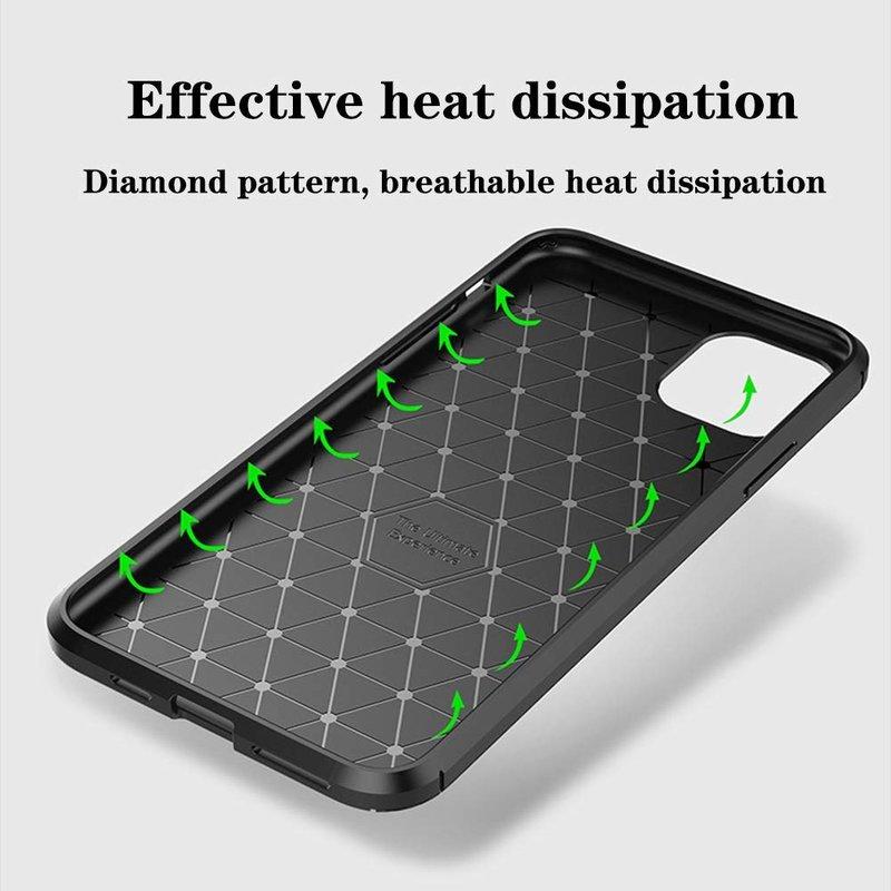 Husa iPhone 11 Pro Max Mobster Carbon Skin Verde