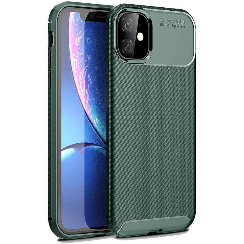 Husa iPhone 11 Mobster Carbon Skin Verde