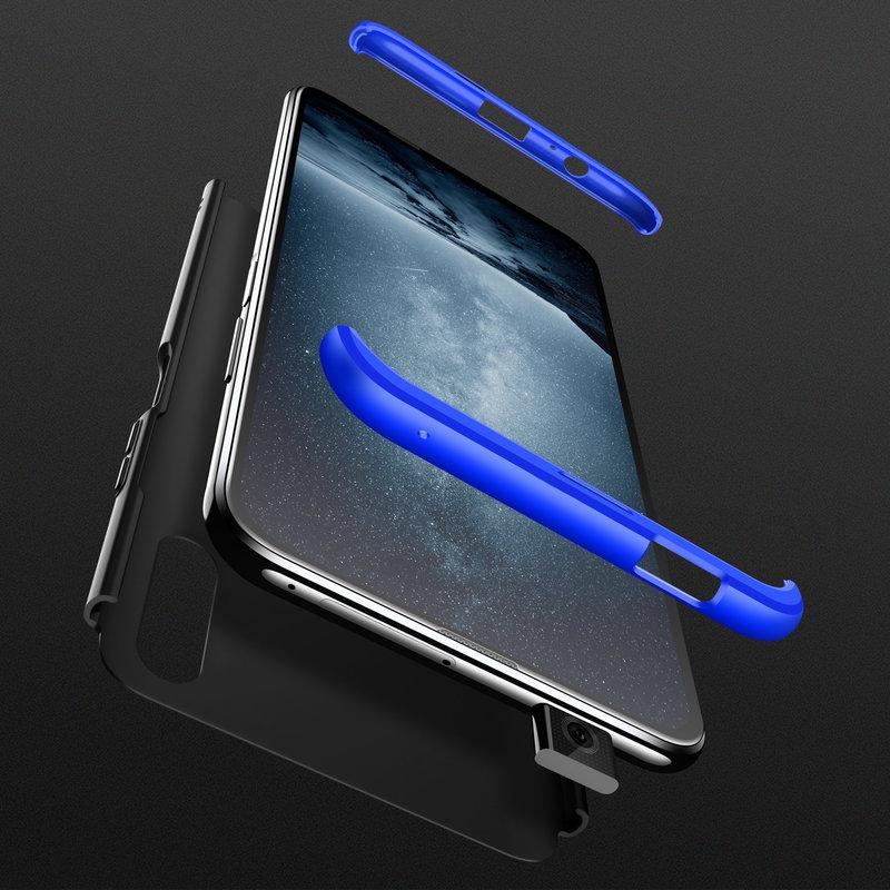 Husa Huawei Honor 9X Pro GKK 360 Full Cover Negru-Albastru