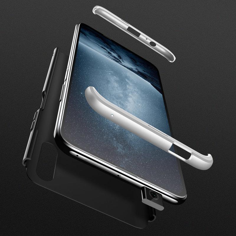 Husa Huawei Honor 9X GKK 360 Full Cover Negru-Argintiu