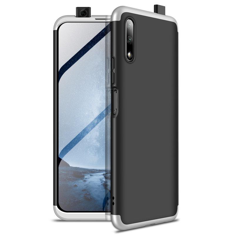 Husa Huawei Honor 9X Pro GKK 360 Full Cover Negru-Argintiu