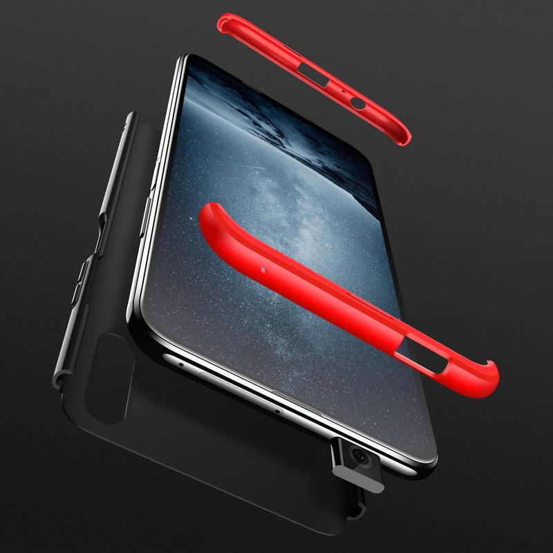 Husa Huawei Honor 9X GKK 360 Full Cover Negru-Rosu