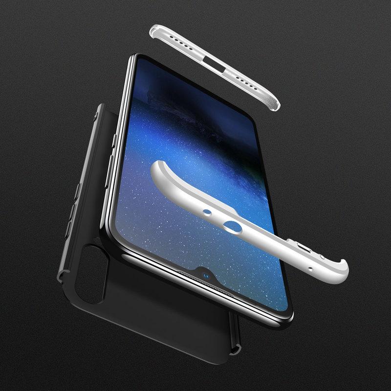 Husa Xiaomi Mi A3 / Mi CC9e GKK 360 Full Cover Negru-Argintiu