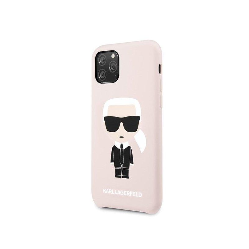 Husa iPhone 11 Pro Max Karl Lagerfeld Karl&Choupette - KLHCN65SLFKPI - Roz
