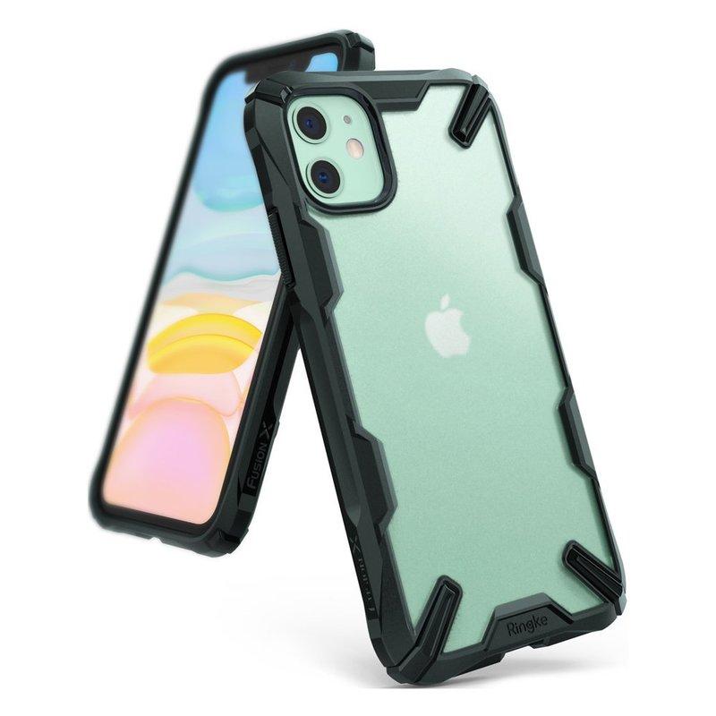 Husa iPhone 11 Ringke Fusion X Dark Green