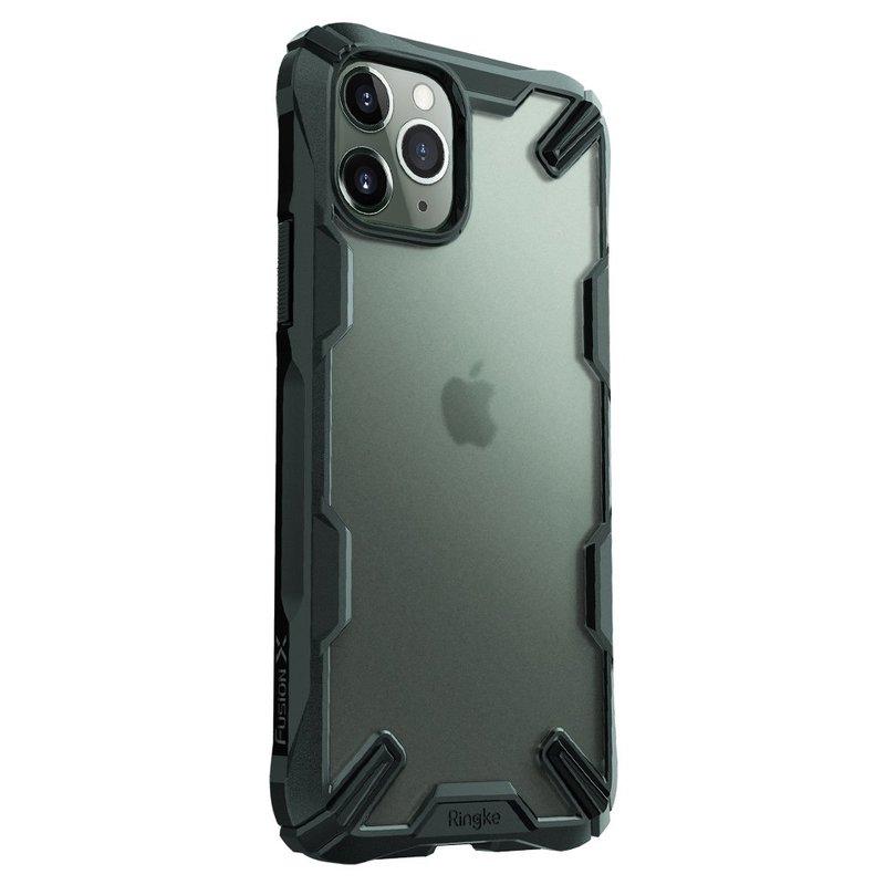 Husa iPhone 11 Pro Ringke Fusion X Dark Green