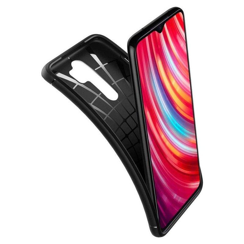 Husa Xiaomi Redmi Note 8 pro Spigen Rugged Armor - Matte Black