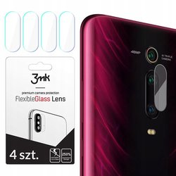 [Pachet 4x] Sticla flexibila camera Xiaomi Mi 9T 3MK- Clear