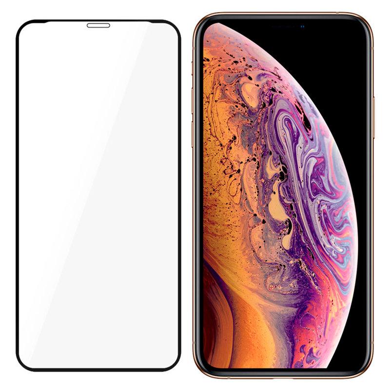 Folie iPhone XS 3mk NeoGlass Unbreakable Cu Rama - Negru