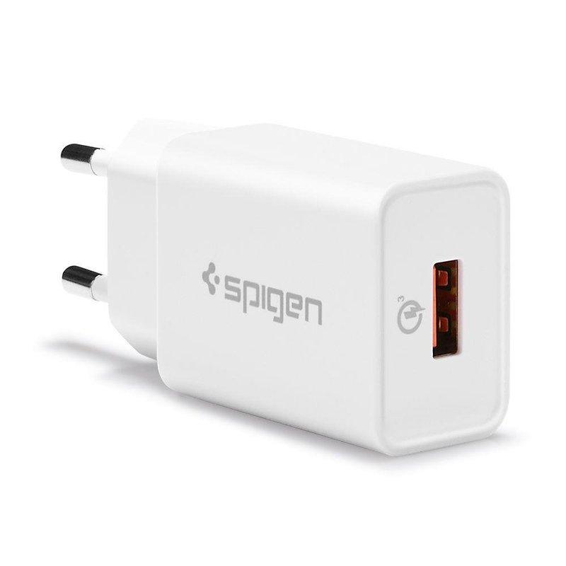 Incarcator Priza Spigen Essential F111 USB QC3.0 - Alb