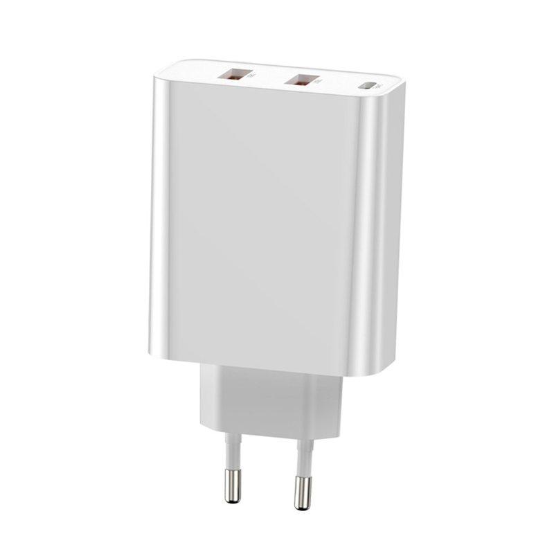 Incarcator Priza Baseus 2xUSB+Type-C Quick Charge 60W 5A - CCFS-G02 - White