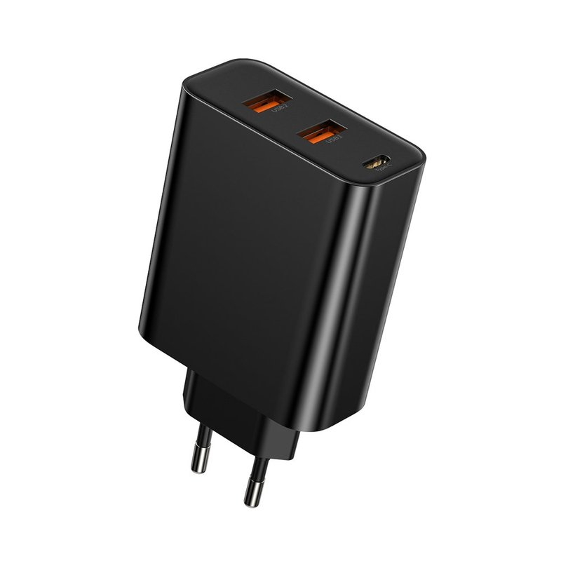 Incarcator Priza Baseus 2xUSB+Type-C Quick Charge 60W 5A - CCFS-G01 - Black