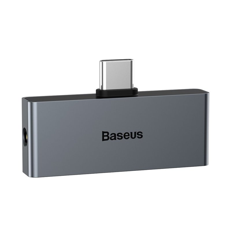 Convertor Audio Baseus L57 Type-C Male To Type-C & 3.5mm Female Adapter - CATL57-0A - Gri