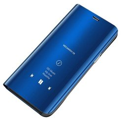Husa Samsung Galaxy A30s Clear View Standing Book - Blue