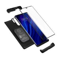 [PACHET 360°] Husa + Sticla Huawei P30 Pro Spigen Thin Fit - Negru
