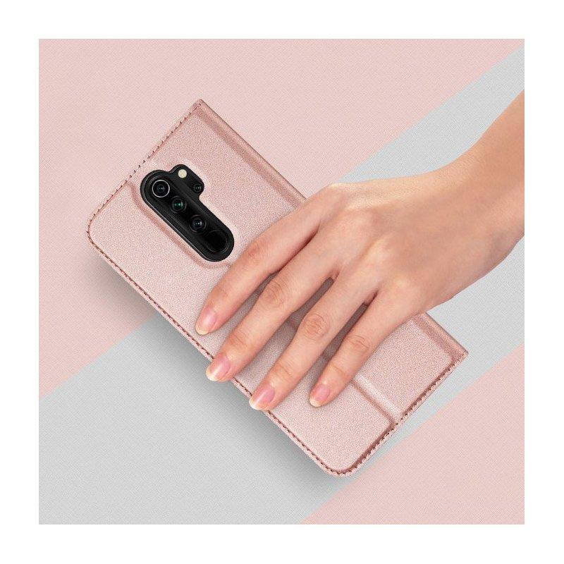 Husa Xiaomi Redmi Note 8 pro Dux Ducis Flip Stand Book - Roz